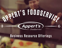 Appert's Foodservice Business Offerings