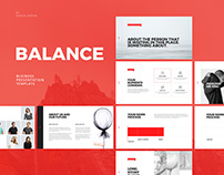 every - free minimal powerpoint & keynote template on behance, Presentation templates