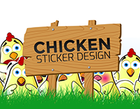 Stickers: Chicken Character Design