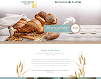Website design for family run bakery