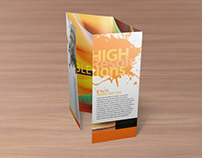 8.5×14 Double Gate Fold Brochure Mockups