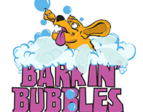 Barkin' Bubbles Mobile Pet Grooming Logo