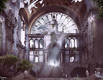 """""""Antwerp Central 2146"""" digital painting"""
