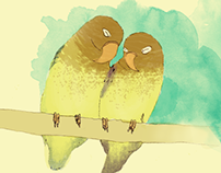 Lovebirds Postcard Set