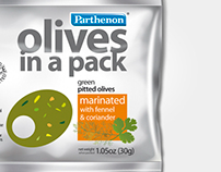 Olives in a pack