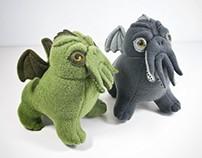 Cthulhu, handmade soft art toys