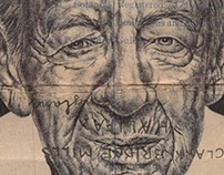 Bic Biro drawing on 1930 envelope.