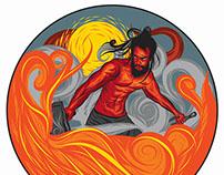 Greek God Hephaestus Illustration