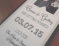 Aubrey Wedding - Save The Date Wedding Design