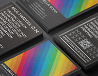 Rainbow typography business card
