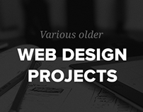Various Web Design projects