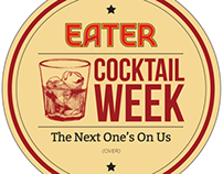 EATER Cocktail Week Coaster