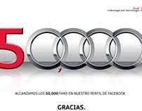 Audi de México llega a los 50,000 fans en su Fanpage.