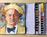 Bill Murray — Watercolor Portrait