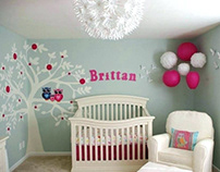 Baby Girl Room Decoration with Elegant Design