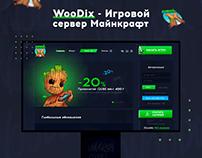 Разработка Веб-дизайна для WooDix!