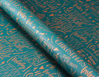 Give thanks — wrapping paper