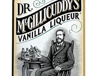 Dr. McGillicuddys Packaging illustrated by Steven Noble