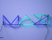 adobe MAXjp Neon sign logo
