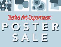 Bethel University Poster Sale Signage