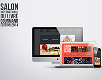 Web Design Salon du Livre Gourmand