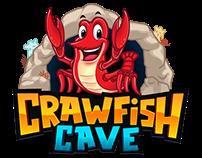 Logo + Character Crawfish Cave