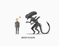 David vs Alien