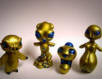 Mini character sculptures