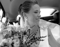 Wedding slow motion black and white