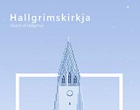 Hallgrímskirkja. Church of Hallgrímur