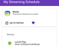 My Streaming Schedule (2017)