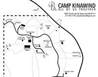 Map design for Camp Kinawind