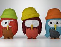 Owls - illustrator Saša Ostoja