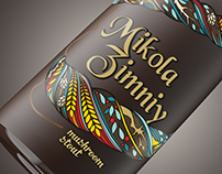 Bottle packaging design in Art Nouveau style