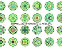 24 Floral Mandala Logo Templates