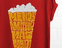 """t-shirt """"menos amateur, más escudo"""""""