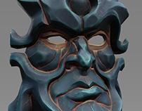 Bold dark fantasy mask. Textured model