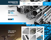 Web Site Aço Perfil