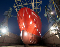 Deep Orient launch at Metalships Yard, Vigo, Spain