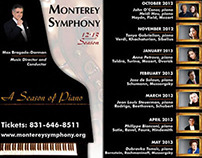 Sampling of Ads for Monterey Symphony 2012-2013