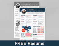 FREE Resume Template | Print ready & two color versions