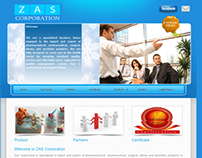 Web Design : Zas Corporation