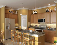 Modern 3D Kitchen Design View