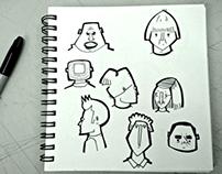 'Kent Folk': Original Pen Drawings