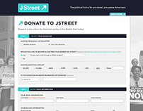 J Street Donate Page Redesign & Development