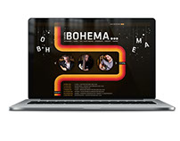 Website design for Bohema band