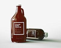 Growler & Squealer Beer Bottle Mock-Up Duo