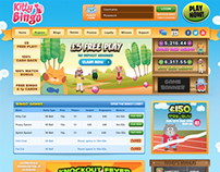 Kitty Bingo Website Design, Build and Jquery