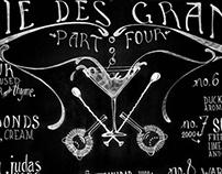 Chalkboard cocktail-lists!