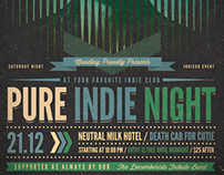 Pure Indie Night Flyer